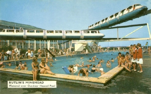 Butlins Minehead outdoor pool monorails