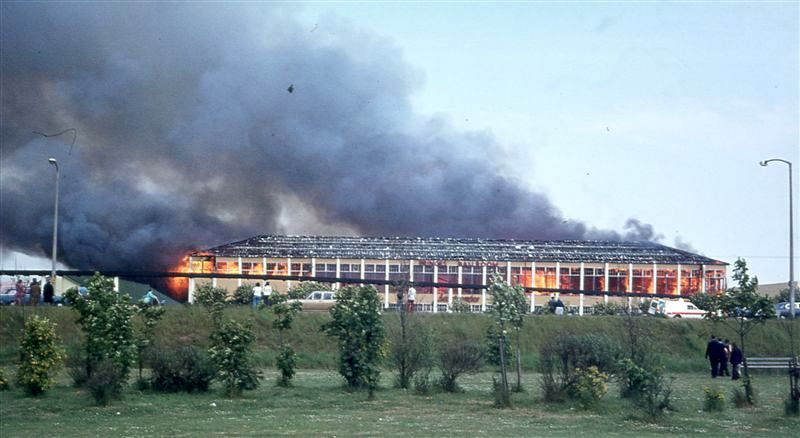 Butlins Skegness fire 1974 by A.J Marriot