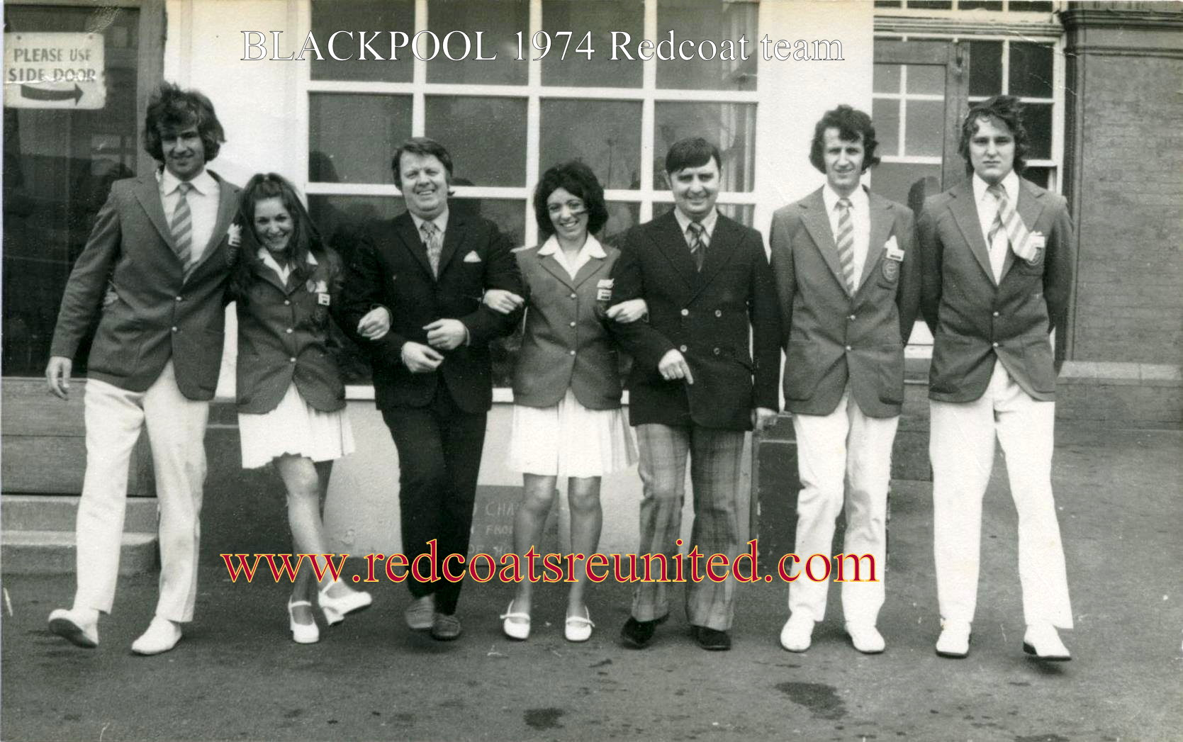 Butlins Blackpool 1974 Redcoat team at Redcoats Reunited