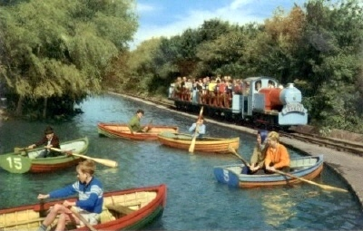 BUTLINS FILEY BOATING LAKE and TRAIN 1971