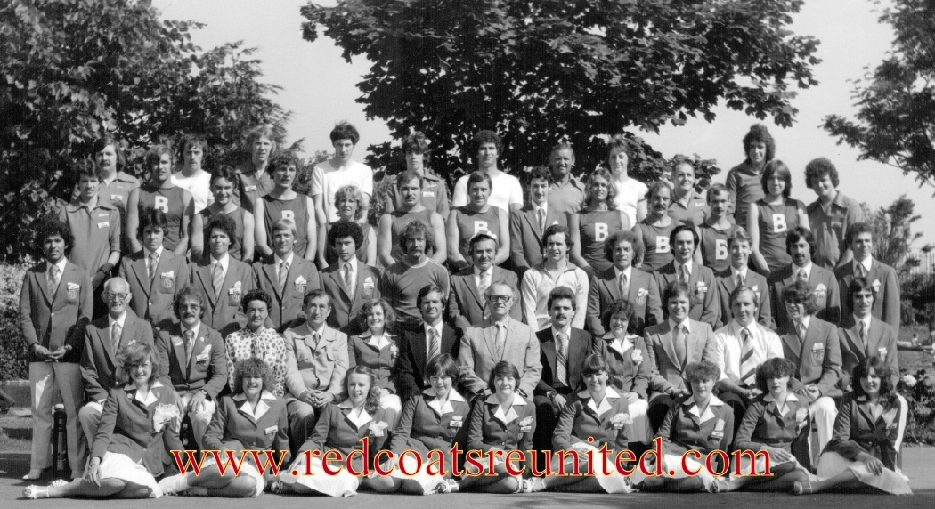 Butlins Minehead 1980 team at Redcoats Reunited