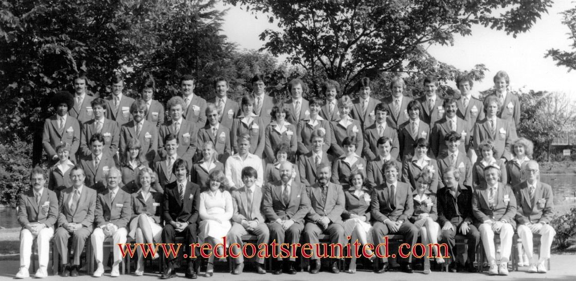Butlins Minehead 1983 team at Redcoats Reunited